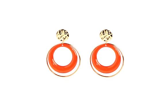Neon Circle Earrings