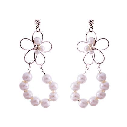 Dahlia Pearl Earrings