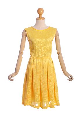 Lemon Drop Vintage Dress