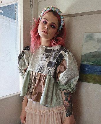 Aisling Duffy Puff Dream Top in Silver Metallic