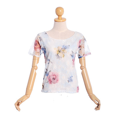 Wistful Watercolours Vintage Top