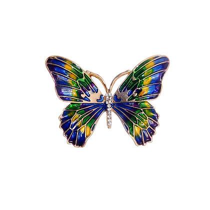 Blue Hour Butterfly Brooch