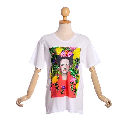 Frida Kahlo Embellished T Shirt