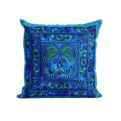Blue Lotus Cushion Cover