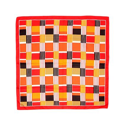 Vintage Scarf - 60s Geometric