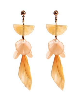 Apricot Shimmer Earrings