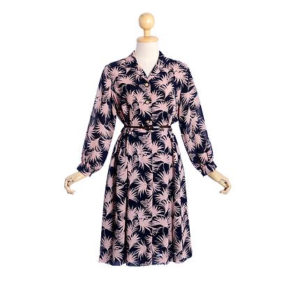 Pink Palms Vintage Dress