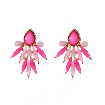 Pink Beam Earrings