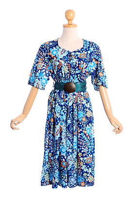 Tropical Floral Vintage Dress