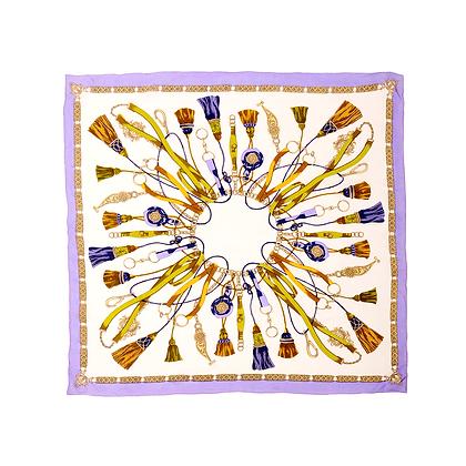 Vintage Scarf - Purple tassel
