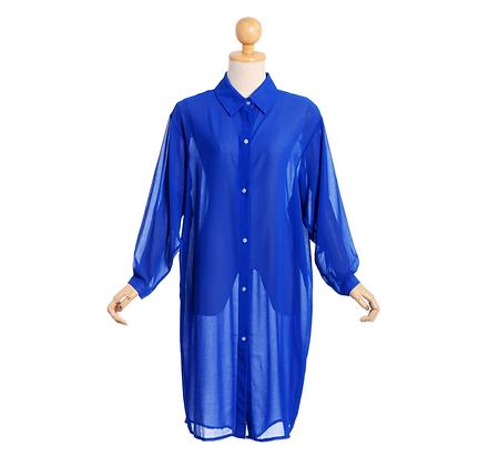 Cobalt Blue Shirt Dress