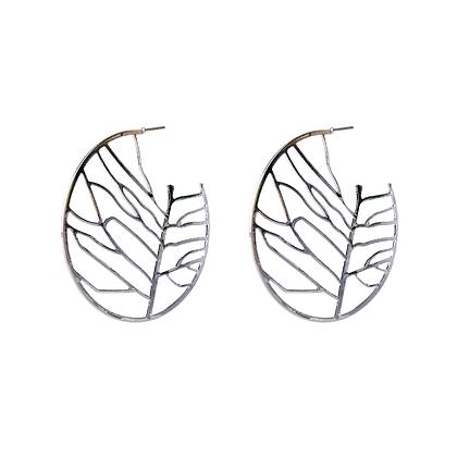 Silver Foliage Earrings