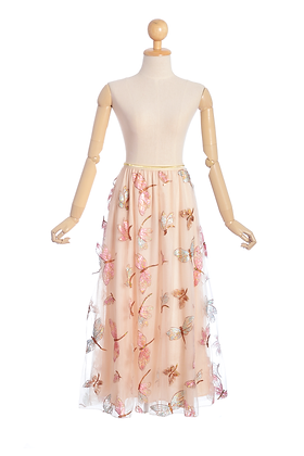 Dusty Pink Dragonfly Skirt