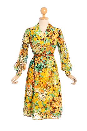 Daffodil Delight Vintage Dress