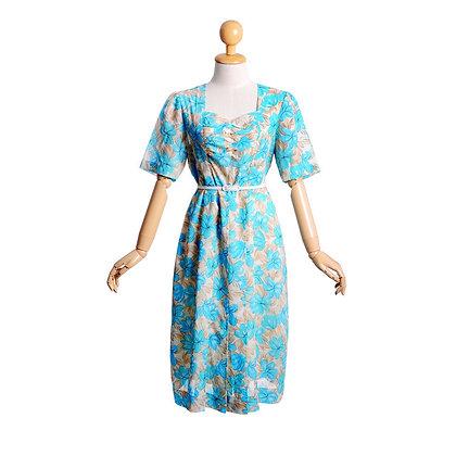 Blue Sweetheart Vintage Dress