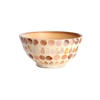 Polished Shell Bamboo Bowl