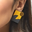 Thumbnail: Shock of Grey New Wave Earrings in Yellow & Grey