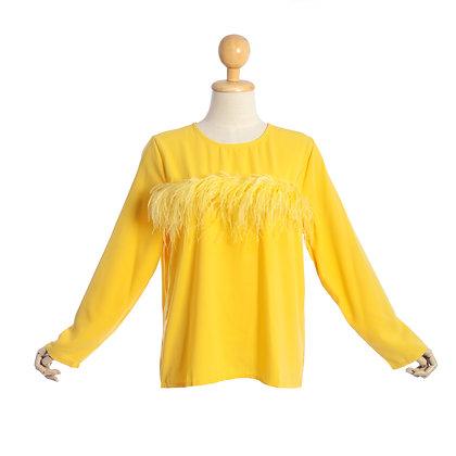 Yellow Melodrama Blouse