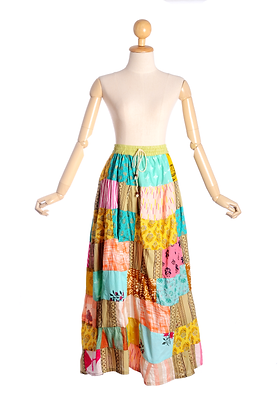 Colours Of The Wind Vintage Patchwork Skirt