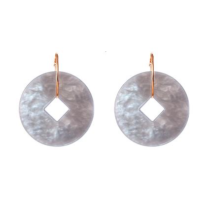 Marbled Disc Earrings