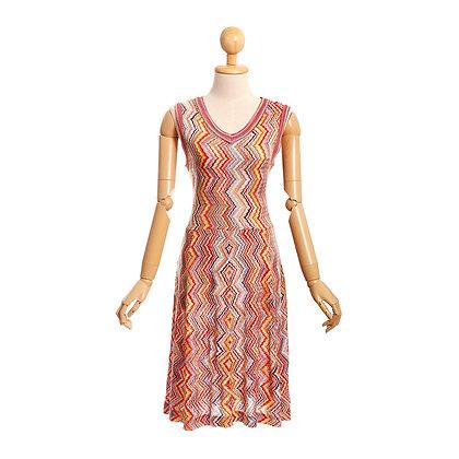 Chevron Chic Vintage Dress