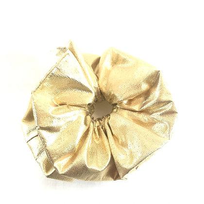 You're Only Gorgeous Gold Lamé Scrunchie