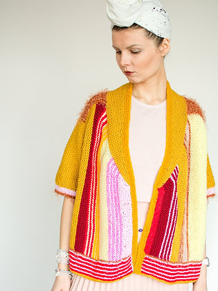 ONA by Agne 'Colours of Life' Yellow Stripe Cardigan