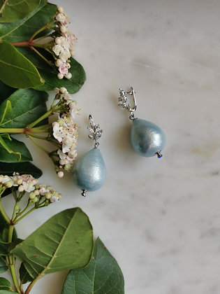 Tatiana Nestor Sea Lavender Blue Earrings