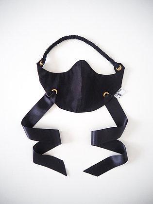 Laoise Carey Black Cotton Face Covering