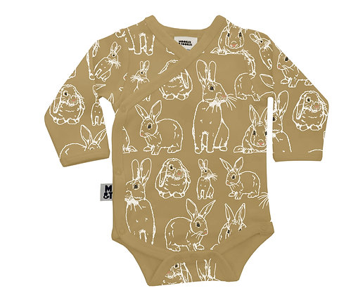 Fauna Kids Rabbit Kimono Style Bodysuit