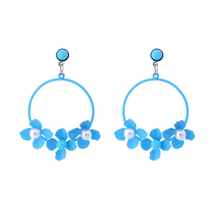Blue Wisteria Earrings