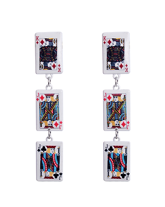 Poker Face Earrings
