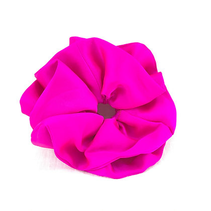 You're Only Gorgeous Hot Pink Silk Scrunchie