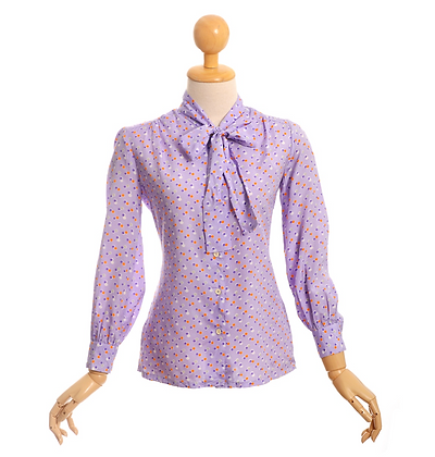 Lilac Pussy Bow Blouse