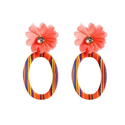 Coral & Floral Earrings