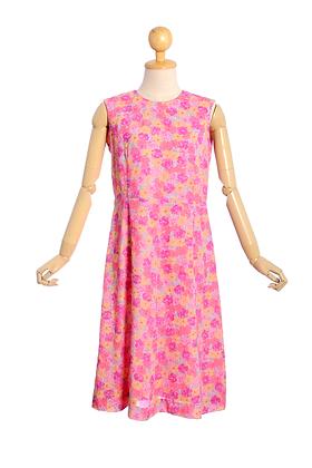 Geranium Pink Vintage Dress