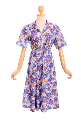Impressionist Iris' Vintage Dress