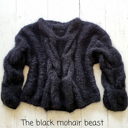 Knitted4Beasts Black Mohair Beast