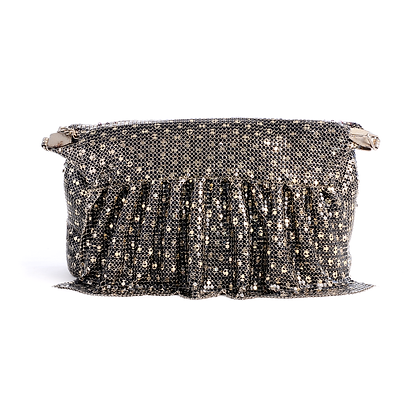 Golden Polka Dot Glomesh Vintage Bag