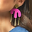 Thumbnail: Shock of Grey Megamelt Earrings in Hot Pink