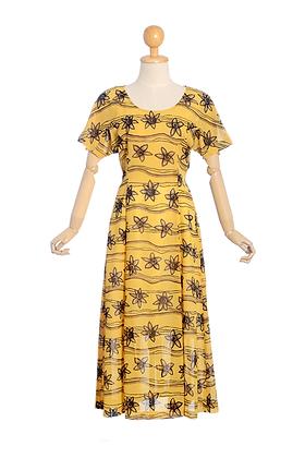 Sunflower Wave Vintage Dress