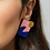 Thumbnail: Shock of Grey New Wave Earrings in Pink & Blue