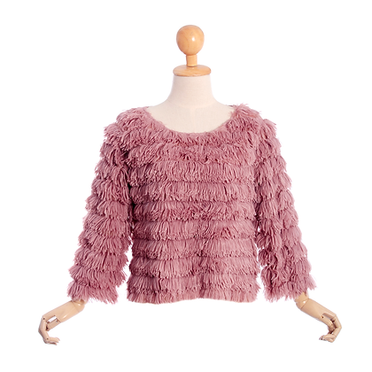 Twist and Shout Jumper in Pink