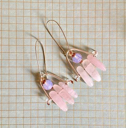 Nordic Root Rose Earrings