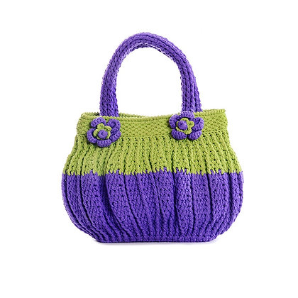 Colour Block Crochet Vintage Bag