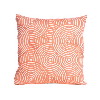 Coral Swirls n' Whirls Cushion Cover