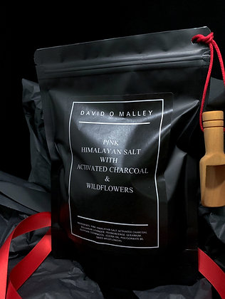 David O Malley Pink Himalayan Salt with Activated Charcoal Bath Salts