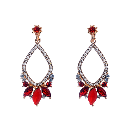 Regal Red Earrings