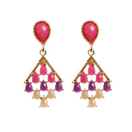 Chainmail Jewel Earrings