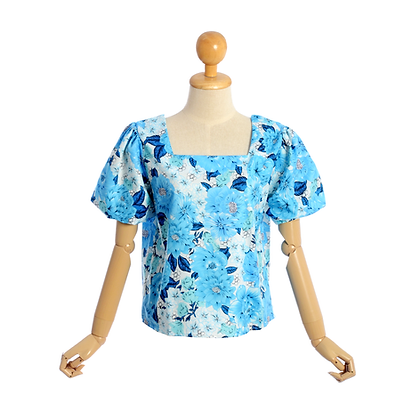 Blue Hibiscus Blouse